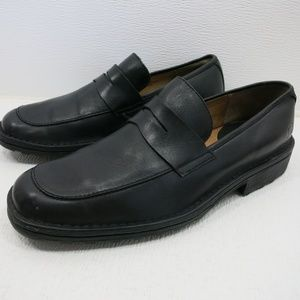 Born Black Leather Strap Dress Penny Loafers 9